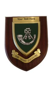 The Light Infantry Personalised Military Wall Plaque